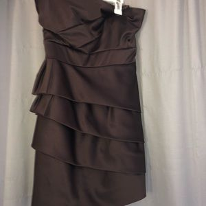 Brown Homecoming Tight Dress